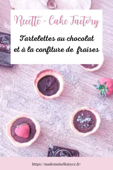 Recette tartelettes au chocolat et à la confiture de fraises