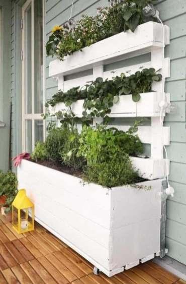 jardinière en palettes de bois DIY