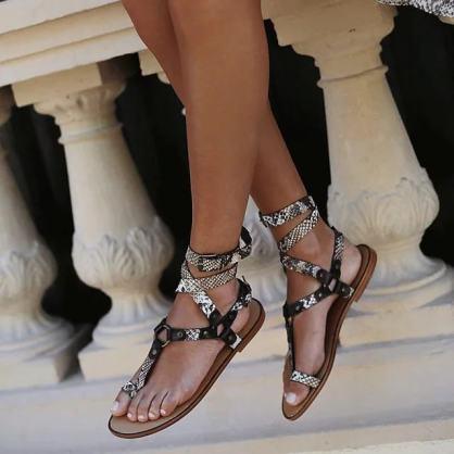 Sandales croco plates été 2021