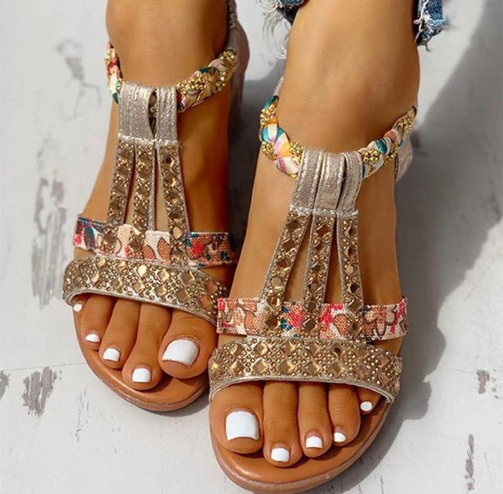 Sandales été 2021 strass