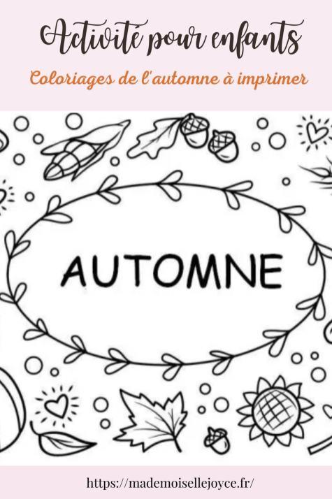 Coloriages automne enfants à imprimer
