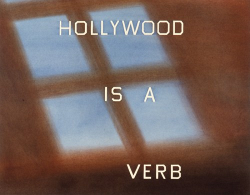 Ruscha-Hollywood-Is-a-Verb