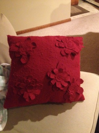 Christmas felt pillow