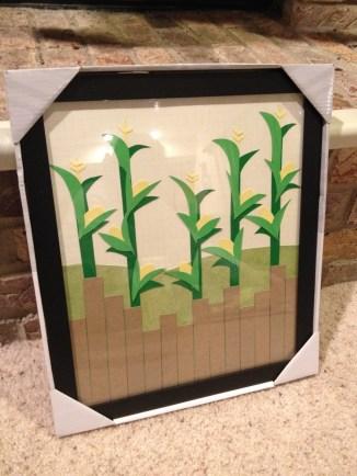 Corn cut paper picture