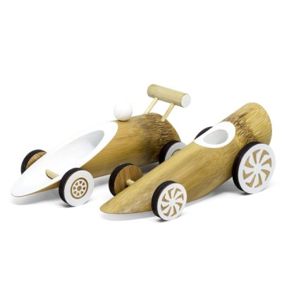 bamboo toy car - speed combo