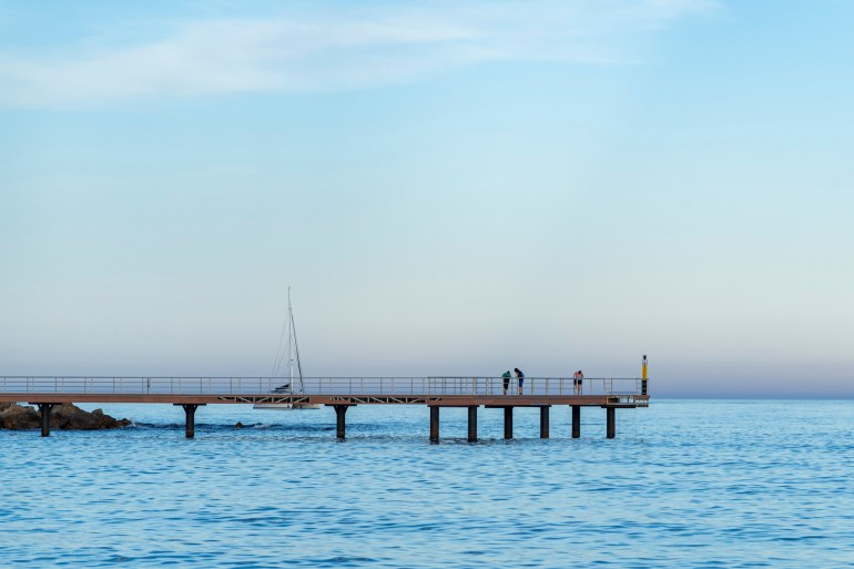 Jetty on the Mediterranean Sea