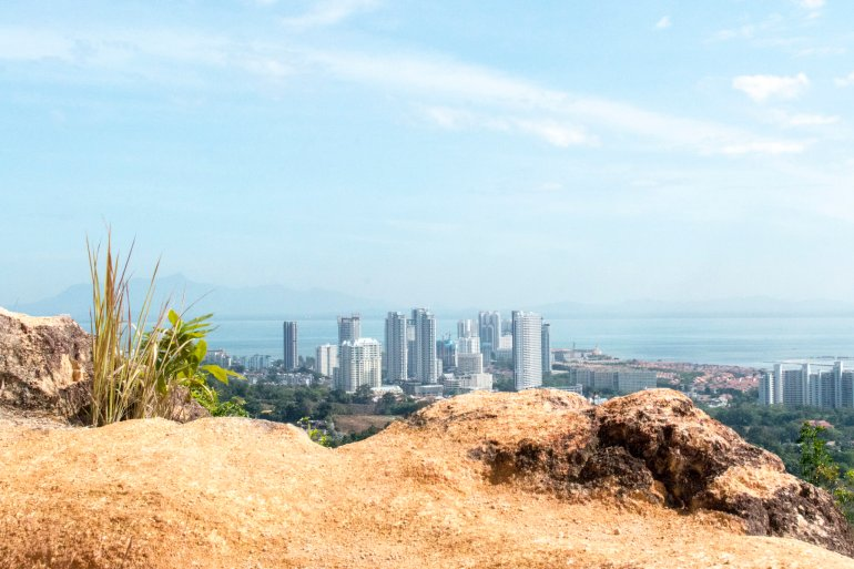 View of Penang from the edge of Penang Hill