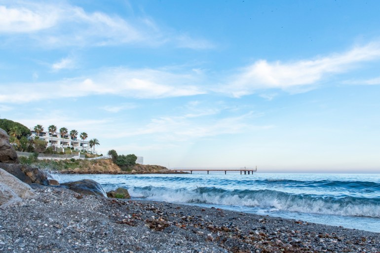 View from beach at H10 Estepona Palace hotel