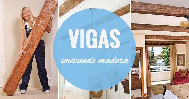 Vigas de imitaci n madera ideas consejos e instalaci n maderame - Viga imitacion madera ...