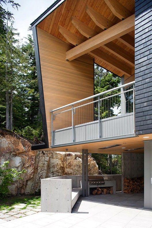 techo exterior en madera