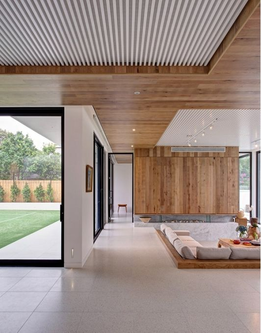 bonito techo en madera