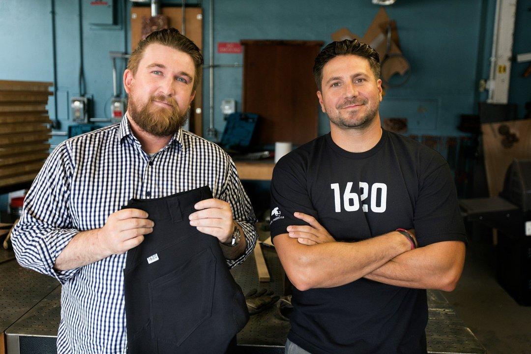 Picture of 1620 Workwear founders Ted De Innocentis (l), Josh Walker (r)