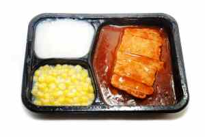 Unpleasant looking TV dinner. Choosing KPIs because they are easy can make for unpaletable results