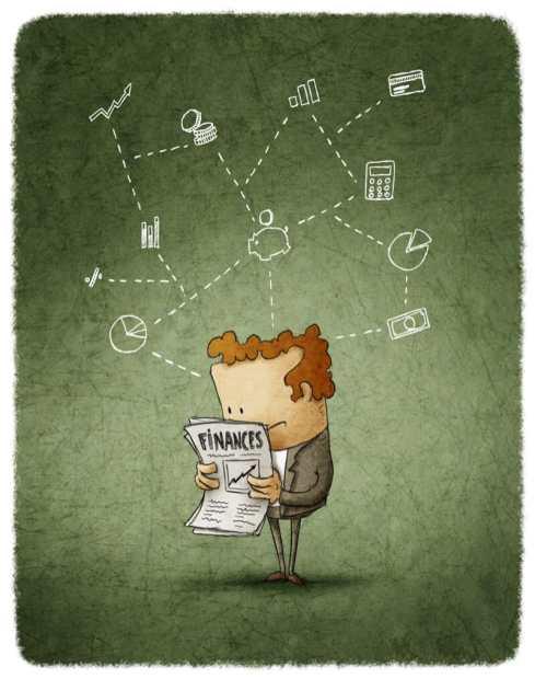 cartoon person reading report