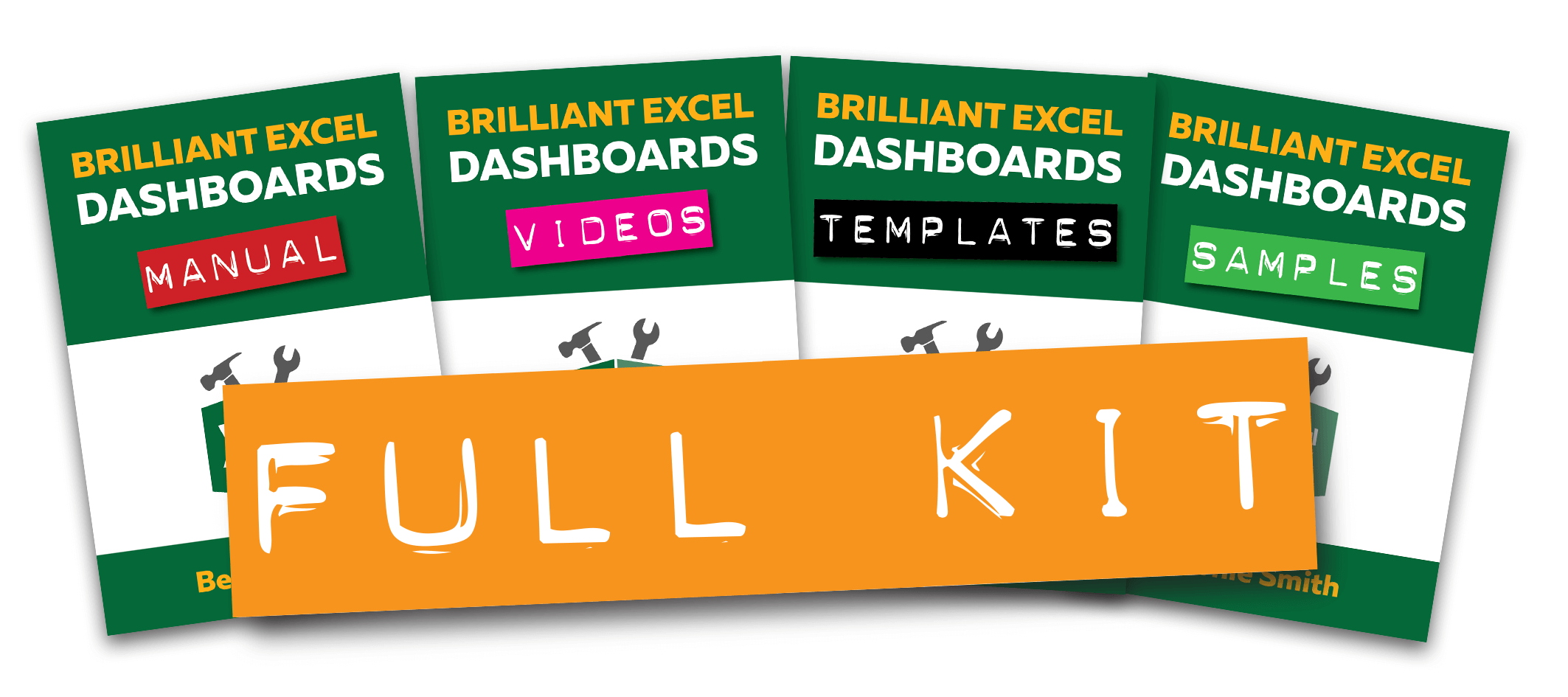 Full Brilliant Excel Dashboard Kit - Row Group - Crowded