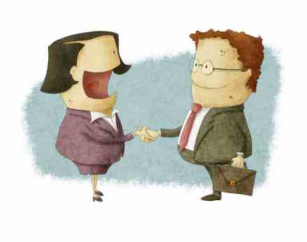 a Shaking Hands on Reaching Agreement. This is an original creation made with a digital source.