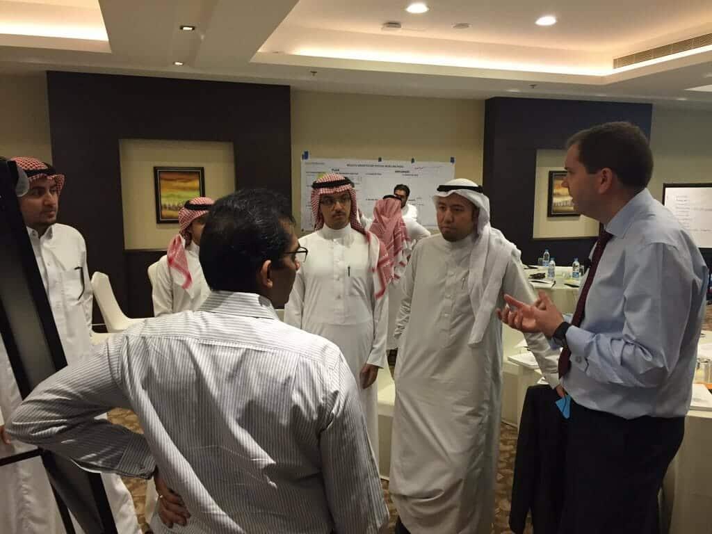 Bernie Smith running a workshop in Riyadh