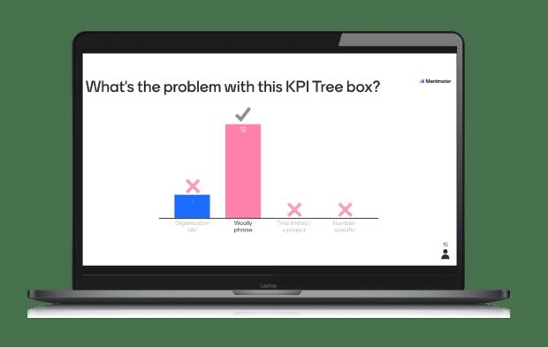 KPI workshop - mentimeter stills