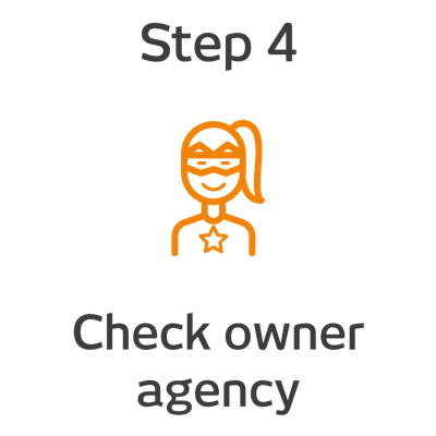 ROKET-DS Step 4 - Check owner agency