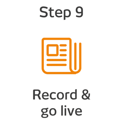 ROKET-DS Step 9 - Record and go live