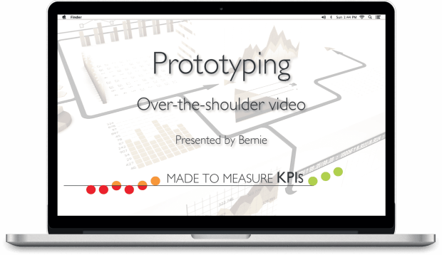 Open Laptop Showing Video - Prototype