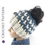Kaydence Ponytail Hat Crochet Pattern