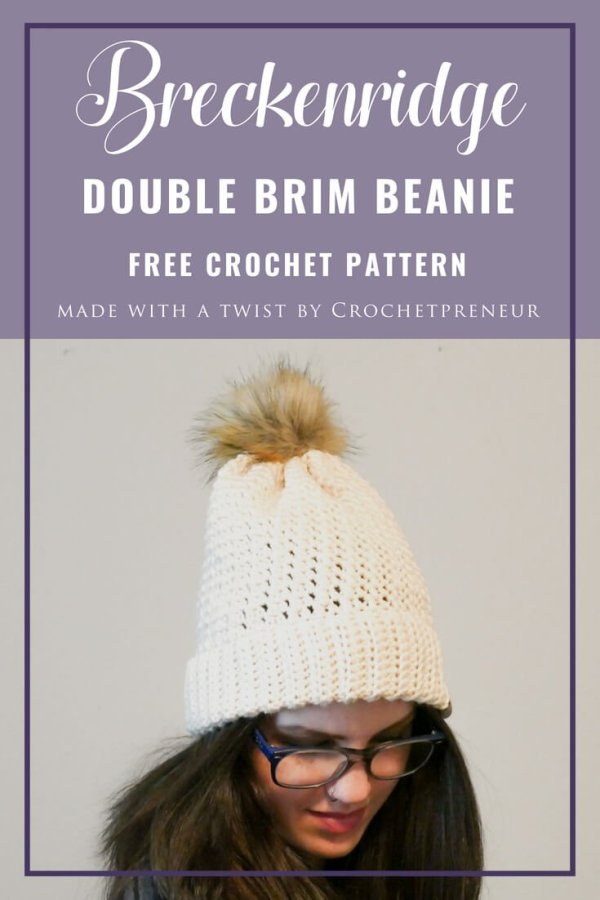 This bottom up double brim beanie crochet pattern creates such a delicate fabric...it
