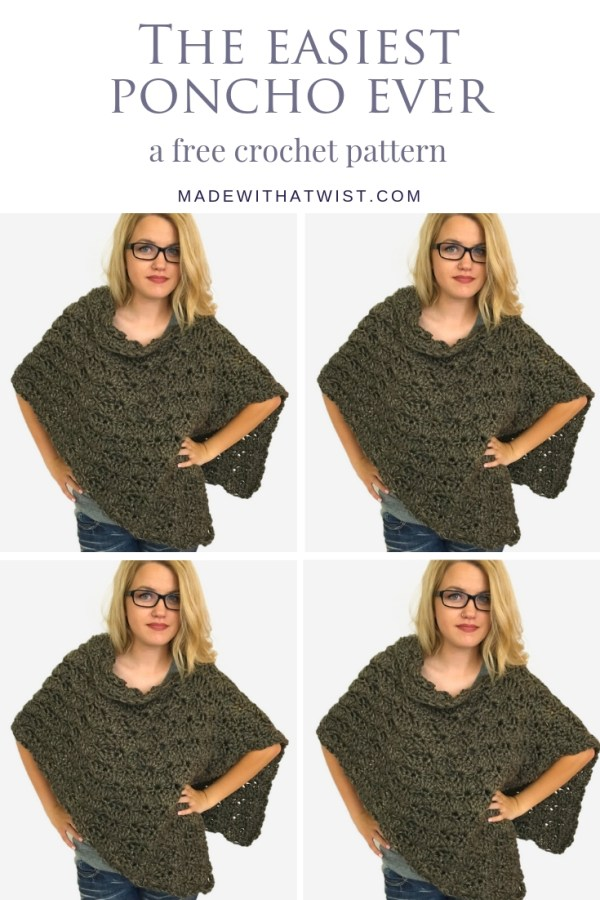 a pinterest image with a collage of poncho images
