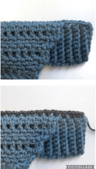 V-neck Top Free Crochet Pattern for Spring Side 2 Row 2