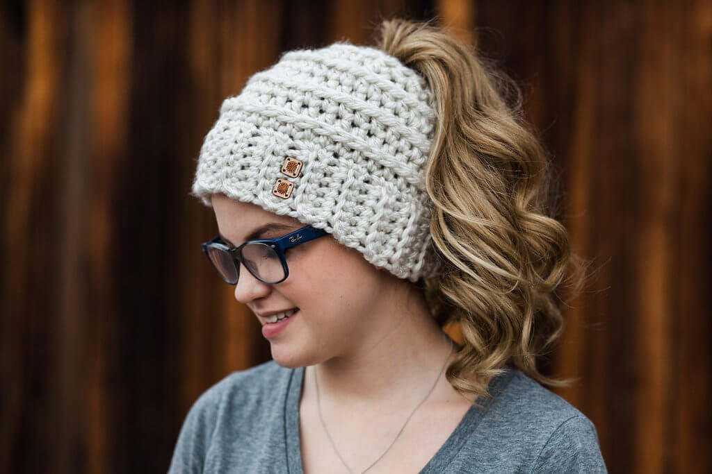 41c63caa61a3b Chelsea Beehive Ponytail Hat