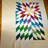 Sternendecke aus Half Square Triangles