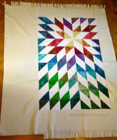 Sternendecke aus Half Square Triangles