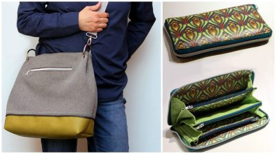 Handtasche Ewa und Geldbörse Grete (Fotos: machwerk)