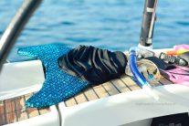 Meerjungfrau - Flosse und Schnorchel
