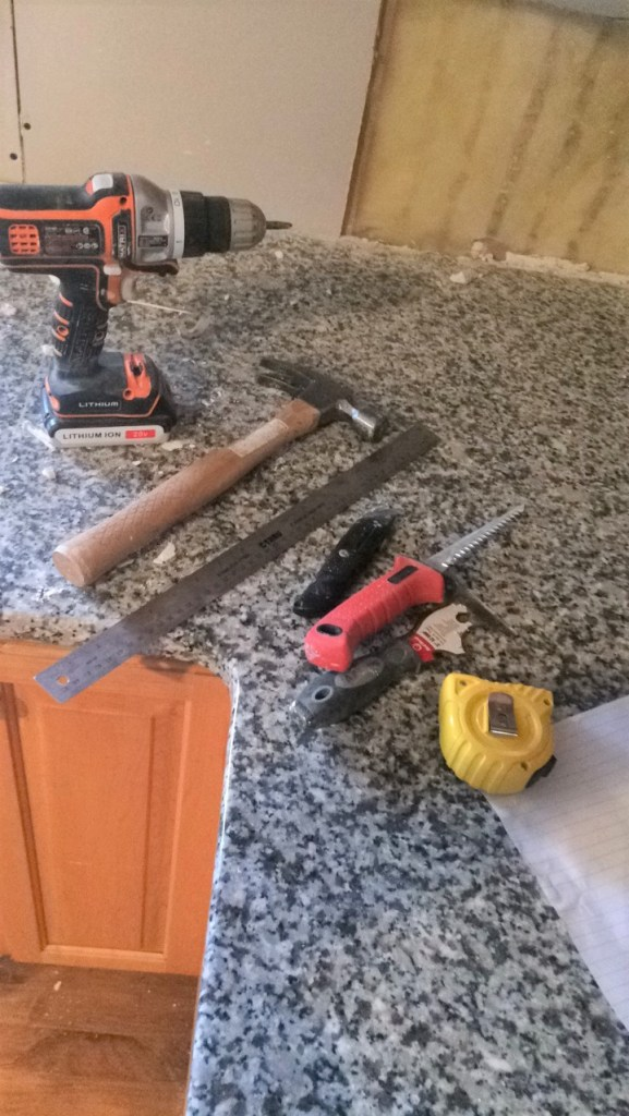 Removing Backsplash and Repairing Drywall   Made With Grace