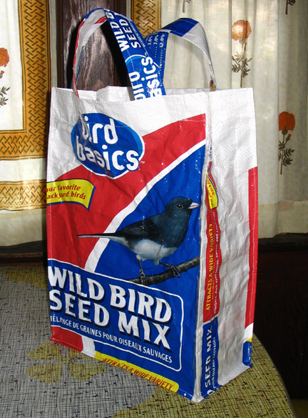 bird seed grocery bag!
