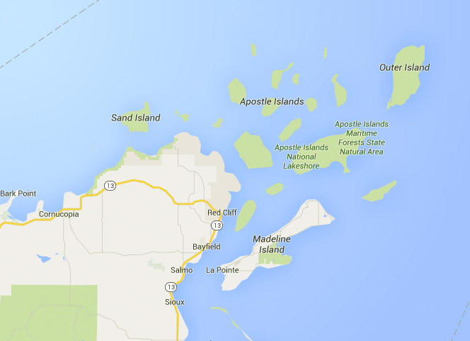 Madeline Island Map Where is Bayfield Wisconsin?   Madeline Island Ferry Line