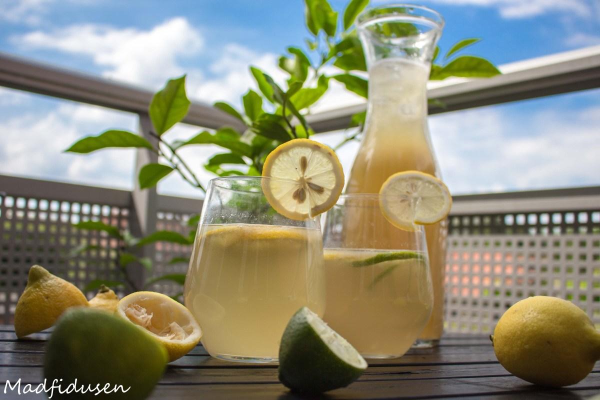 Lemonade m. citron og lime - uden tilsat sukker