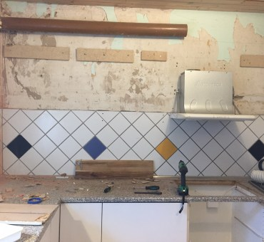 Projekt nyt køkken - om at bo midt i en byggeplads