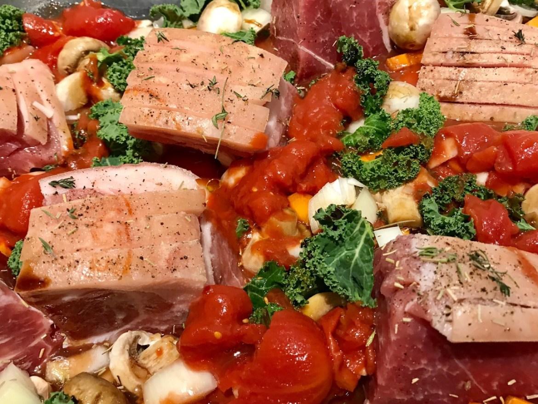 Italiensk kamsteg i tomatsauce