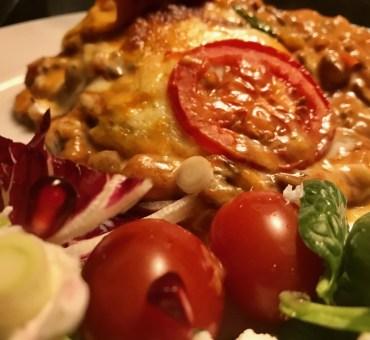 Lækker lasagne med masser af grøntsager