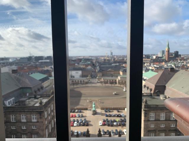 Udsigt fra Tårnet ved Christiansborg slot