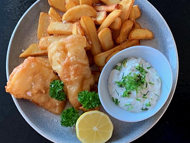 Fish & chips med sauce tartare