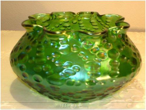 LOETZ GREEN DIASPORA GLASS BOWL