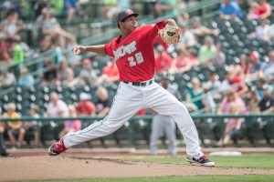San Diego Padres RHP prospect Anderson Espinoza pitching for Fort Wayne TinCaps