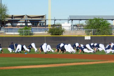 San Diego Padres prospects work out at the Peoria Sports Complex