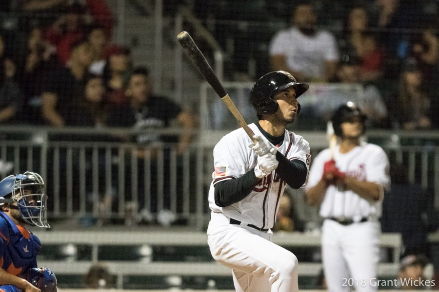 Padres shortstop prospect Javier Guerra hits for El Paso Chihuahuas