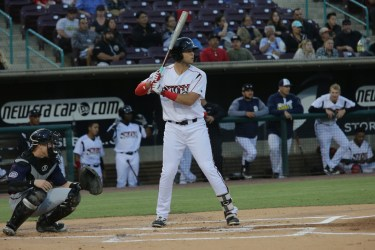 San Diego Padres prospect Hudson Potts bats for Lake Elsinore Storm