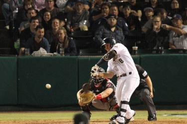 San Diego Padres prospect Ty France bats for the San Antonio Missions