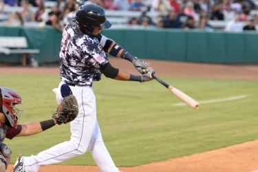 San Diego Padres prospect Fernando Tatis Jr hitting for the San Antonio Missions
